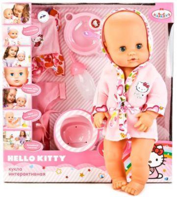 "Интерактивная кукла-пупс Карапуз ""Hello Kitty"" с музыкальным горшком, 40 см"