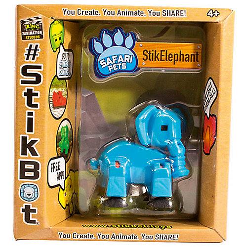 """Фигурка питомца Zing Stikbot """"Сафари"""", слон от Zing"""