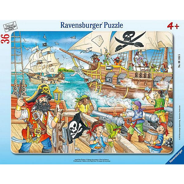 Rahmenpuzzle 36 Teile Angriff der Piraten, Ravensburger