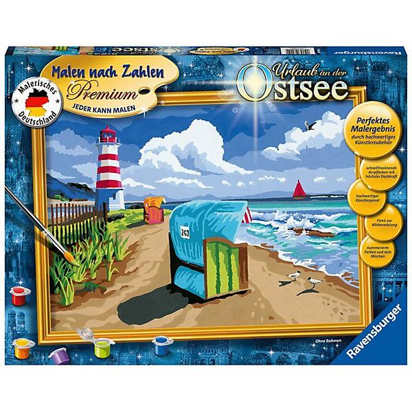 Malen Nach Zahlen Premium 30x40cm Mit Bilderfirnis Urlaub An Der Ostsee Ravensburger