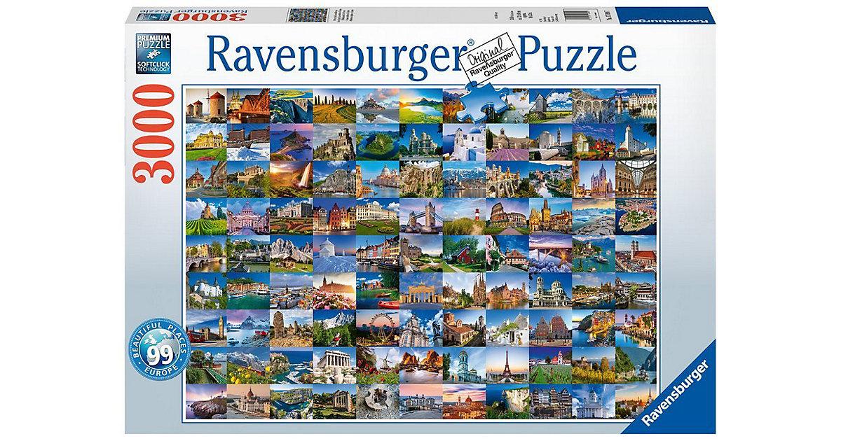 Ravensburger · Ravensburger - Puzzle: 99 Bezaubernde Plätze in Europa, 3000 Teile