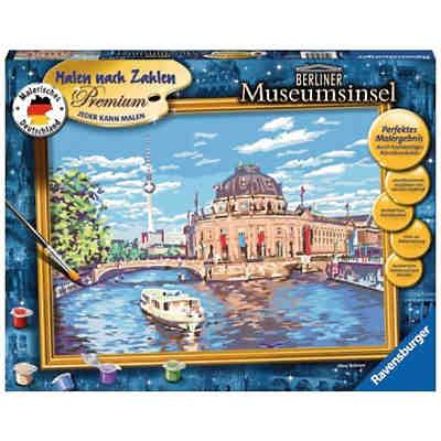 Malen Nach Zahlen Premium 30x40cm Mit Bilderfirnis Berliner Museumsinsel Ravensburger