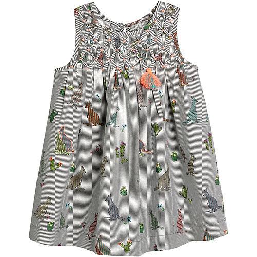 next Kinder Kleid mit Stick- und Fransendetail Gr. 104/110 Mädchen Kleinkinder | 05057823169419