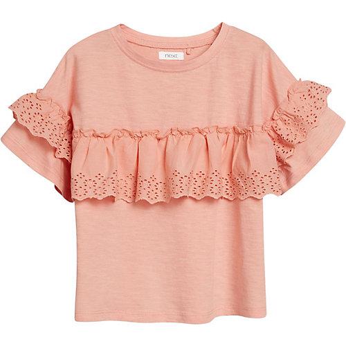 Next T-Shirt mit Rüschen Gr. 128 Mädchen Kinder | 05057823648013