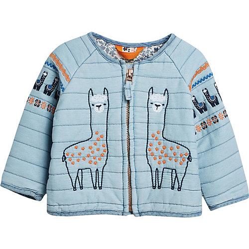 Next Übergangsjacke mit Stickereien , Lama Gr. 68/74 Mädchen Baby | 05057823656537