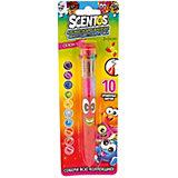 Ароматизированная шариковая ручка WeVeel Scentos, 10 цветов, красная