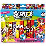 Ароматизированные фломастеры WeVeel Scentos, 24 цвета