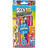 Ароматизированные цветные карандаши WeVeel Scentos, 12 цветов