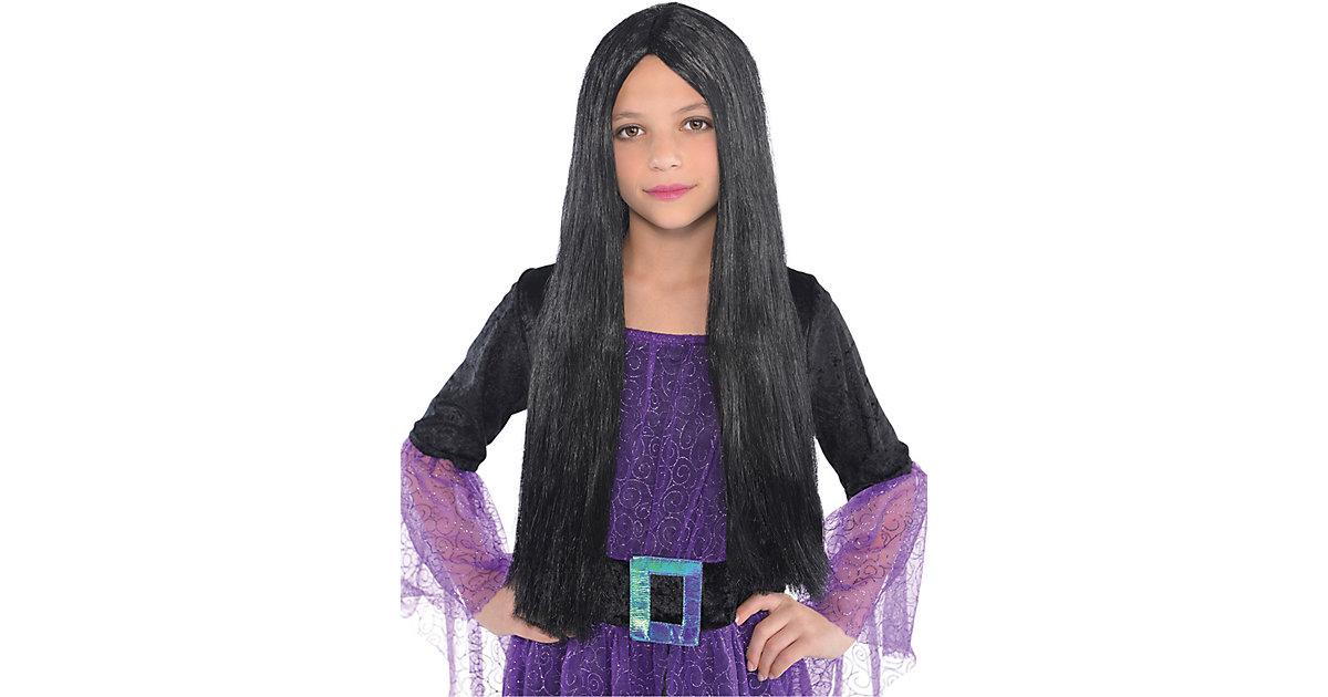 Kinder-Perücke Hexe schwarz Einheitsgröße Mädchen Kinder