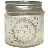 Новогодняя свечка Феникс-Презент с ароматом шоколада, 6,5 см