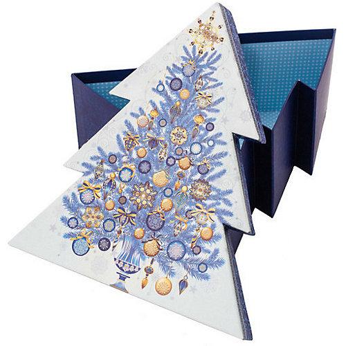 """Подарочная коробка Феникс-Презент """"Золото на синем"""" от Феникс-Презент"""