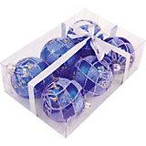 Набор елочных шаров Magic Land синий, 6 штук