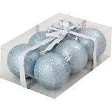 Набор елочных шаров Magic Land голубой, 6 штук