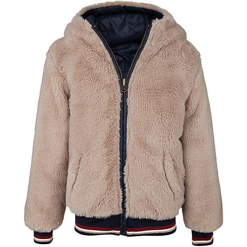WE Fashion Winterjacke FOXGLOVE zum Wenden mit Kunstfell-Futter Gr. 134/140 Mädchen Kinder | 08719508268875