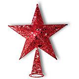 "Верхушка на ёлку B&H ""Звезда новогодняя"", красная"