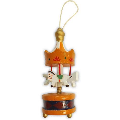 """Украшение на ёлку B&H """"Карусель"""" 9 см, оранжевая - разноцветный от B&H"""
