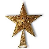 "Верхушка на ёлку B&H ""Звезда новогодняя"", золотая"