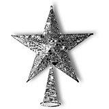 """Верхушка на ёлку B&H """"Звезда новогодняя"""", серебряная"""
