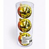Набор елочных шаров B&H 3 шт, 9 см., золотые