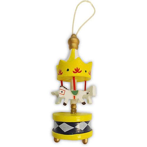 """Украшение на ёлку B&H """"Карусель"""" 9 см, жёлтая - разноцветный от B&H"""