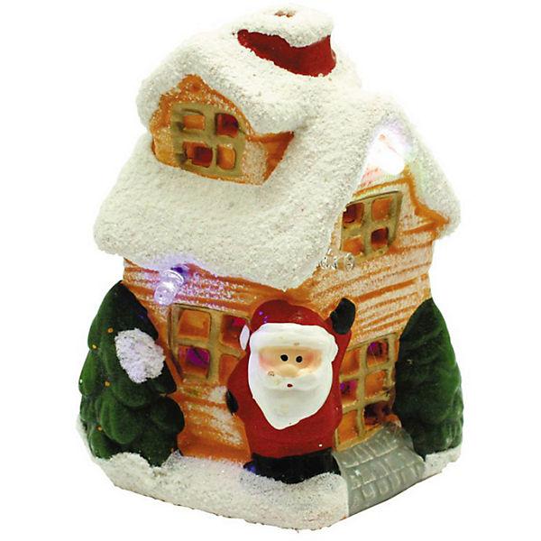 """Новогодний керамический домик GLOS """"Свет волшебства"""""""