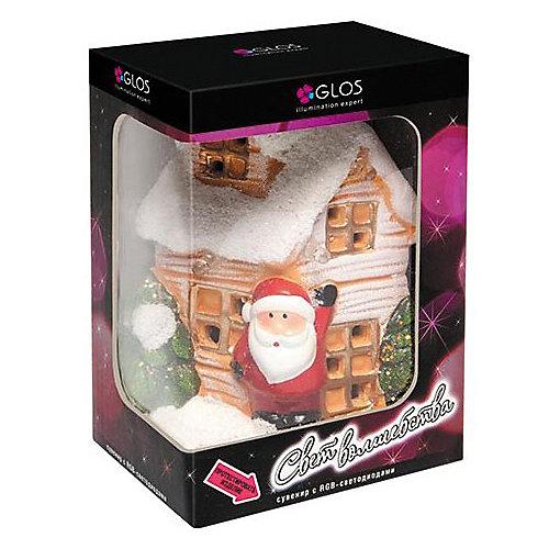 """Новогодний керамический домик GLOS """"Свет волшебства"""" - разноцветный от GLOS"""