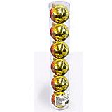Набор елочных шаров B&H 6 шт, 6 см., золотые