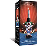 Подарочный набор Rainbow Moments Свечи со стекающими разноцветными каплями воска и подсвечник в форме Клоуна