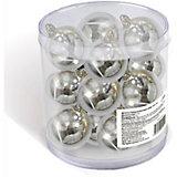 Набор елочных шаров B&H 12 шт, 3 см., серебряные