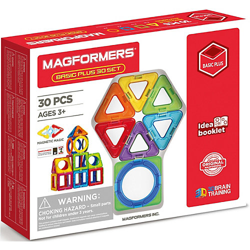 Магнитный конструктор MAGFORMERS Basic Plus 30 set от MAGFORMERS