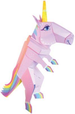 Bastelset Schultüte Pferd blau weiß pink Zuckertüte