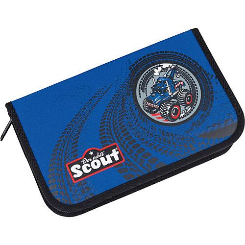 Ранец Scout Sunny Exklusiv Stickys Эвакуатор, с наполнением - синий от Scout