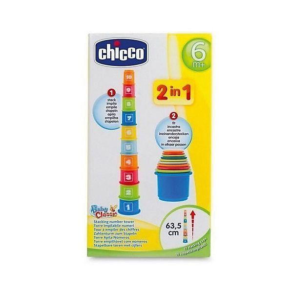 Занимательная пирамидка Chicco с цифрами