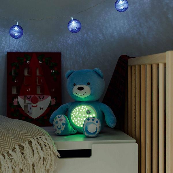 """Музыкальная игрушка-проектор Chicco """"Мишка"""", голубой"""