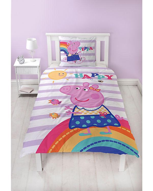 Wende Kinderbettwäsche Peppa Pig 135 X 200 Cm Peppa Pig