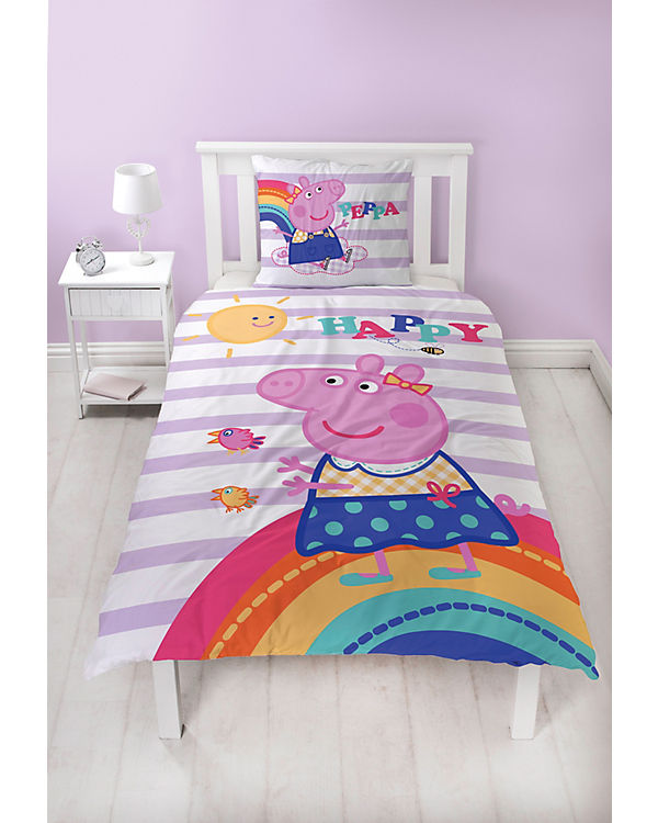 Wende Kinderbettwäsche Peppa Pig 135 X 200 Cm Peppa Pig Mytoys