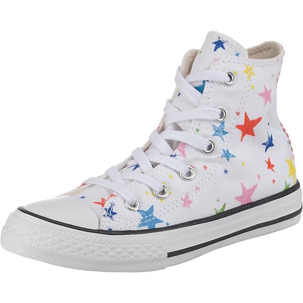 premium selection 9f36c 43467 Sneakers High CTAS HI WHITE/FIERY RED/BLACK für Mädchen, Sterne, CONVERSE