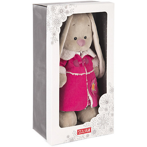 Мягкая игрушка Budi Basa Зайка Ми в платье и розовой дубленке, 25 см от Budi Basa
