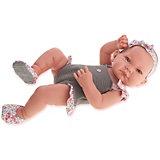 Кукла-младенец Juan Antonio Munecas Ника в сером, 42 см