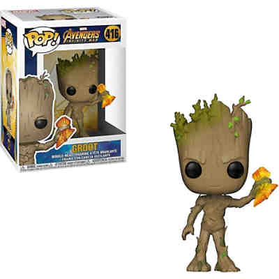Funko POP!   Marvel: Infinity War S2- Groot + Stormbreaker
