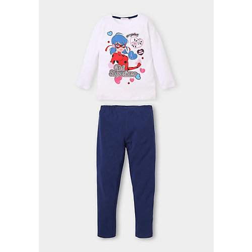 Miraculous: Geschichten von Ladybug und Cat Noir Schlafanzug Gr. 116 Mädchen Kinder | 04060617003715