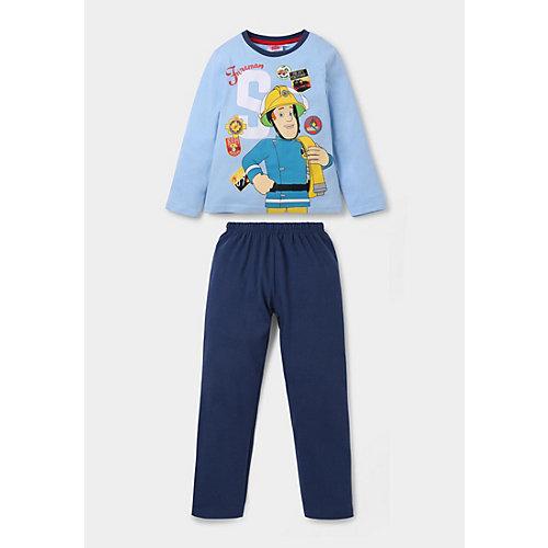 Feuerwehrmann Sam Schlafanzug Gr. 116 Jungen Kinder | 04060617007072