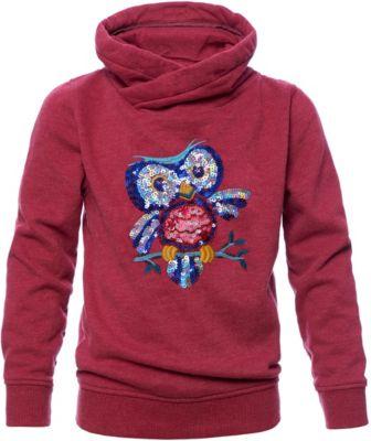 Sweatshirt mit Schalkragen und Pailletten für Mädchen, REVIEW for Kids