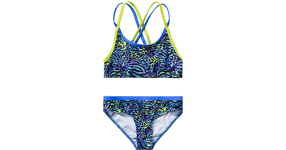 Kinder Bikini von ZOGGS blau/grün Gr. 164 Mädchen Kinder
