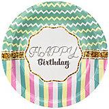 "Тарелки Патибум ""Happy Birthday"" Тиффани 6 шт., 18 см"