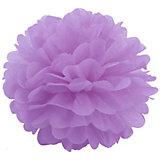 Помпон бумажный Патибум 40 см, лиловый