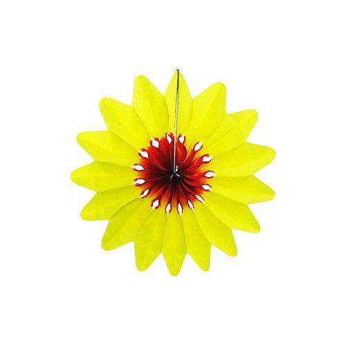 """Бумажное украшение Патибум """"Цветок"""" 50 см, жёлтый - разноцветный от Патибум"""