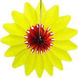 """Бумажное украшение Патибум """"Цветок"""" 50 см, жёлтый"""