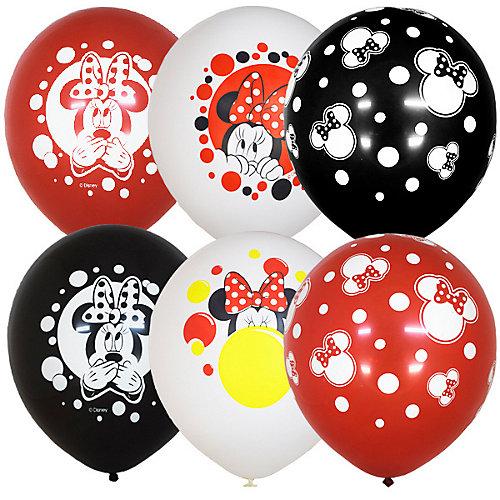 """Воздушные шары Latex Occidental """"Дисней Минни в горошек"""" 25 шт, пастель + декоратор - разноцветный от Latex Occidental"""