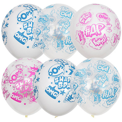 """Воздушные шары Latex Occidental """"Happy Bday ДР"""", 25 шт - разноцветный от Latex Occidental"""